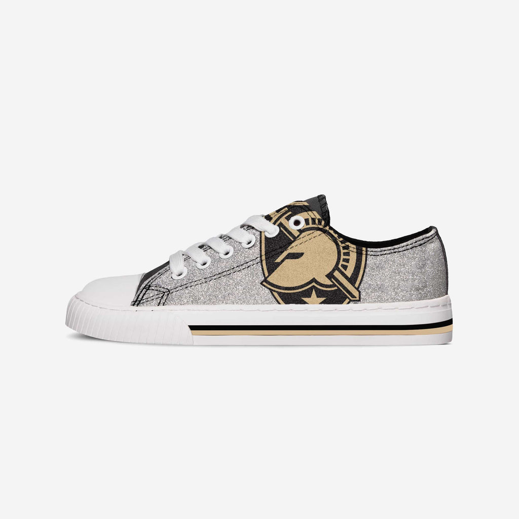 Army Black Knights Womens Glitter Low Top Canvas Shoe FOCO - FOCO.com
