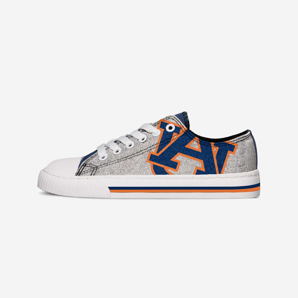 Auburn Tigers Womens Glitter Low Top Canvas Shoe