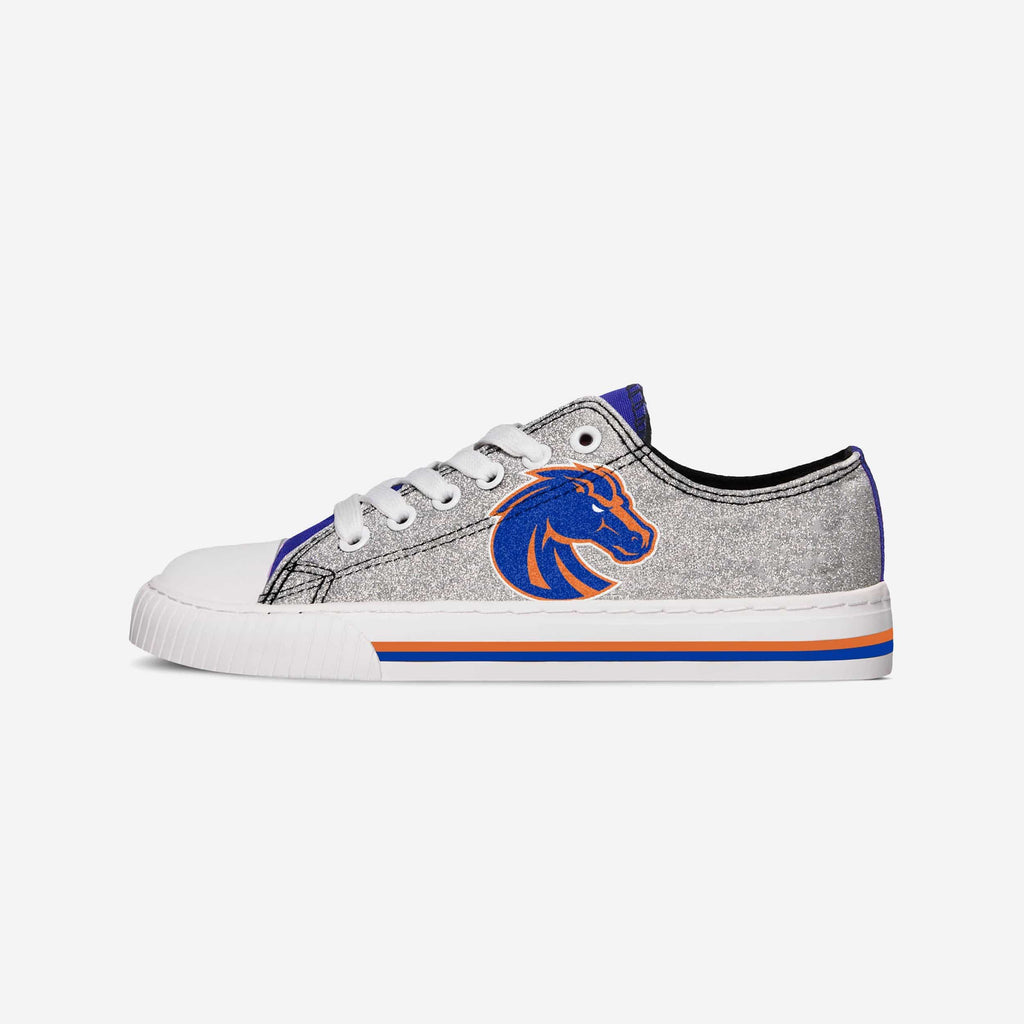 Boise State Broncos Womens Glitter Low Top Canvas Shoe FOCO - FOCO.com