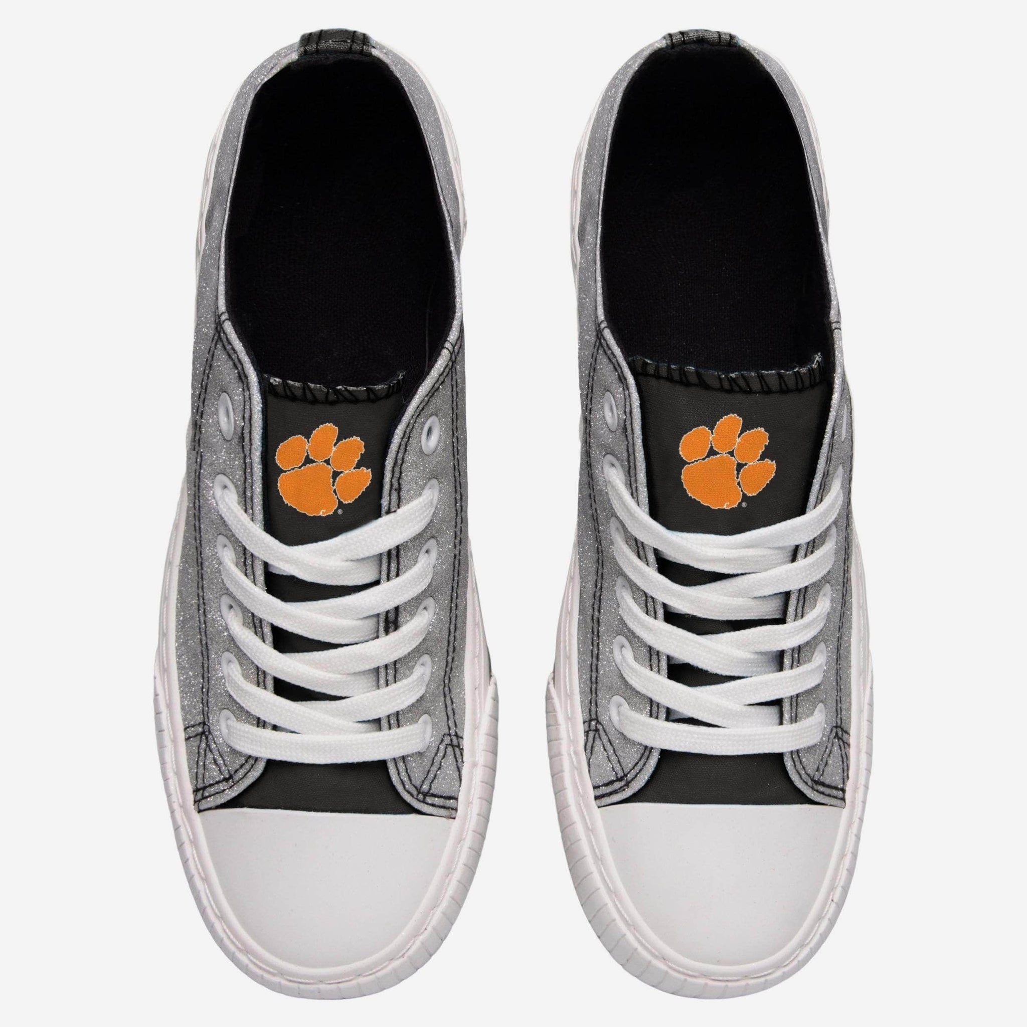 Clemson Tigers Womens Glitter Low Top Canvas Shoe FOCO - FOCO.com