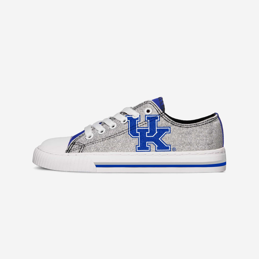Kentucky Wildcats Womens Glitter Low Top Canvas Shoe FOCO - FOCO.com