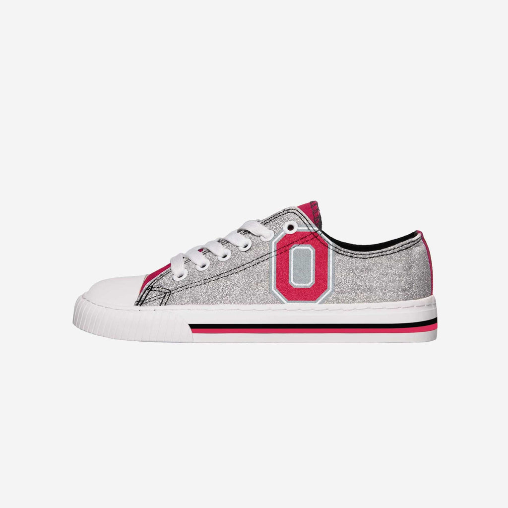Ohio State Buckeyes Womens Glitter Low Top Canvas Shoe
