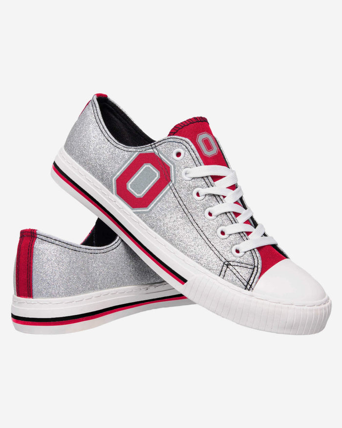 Ohio State Buckeyes Womens Glitter Low Top Canvas Shoe FOCO - FOCO.com