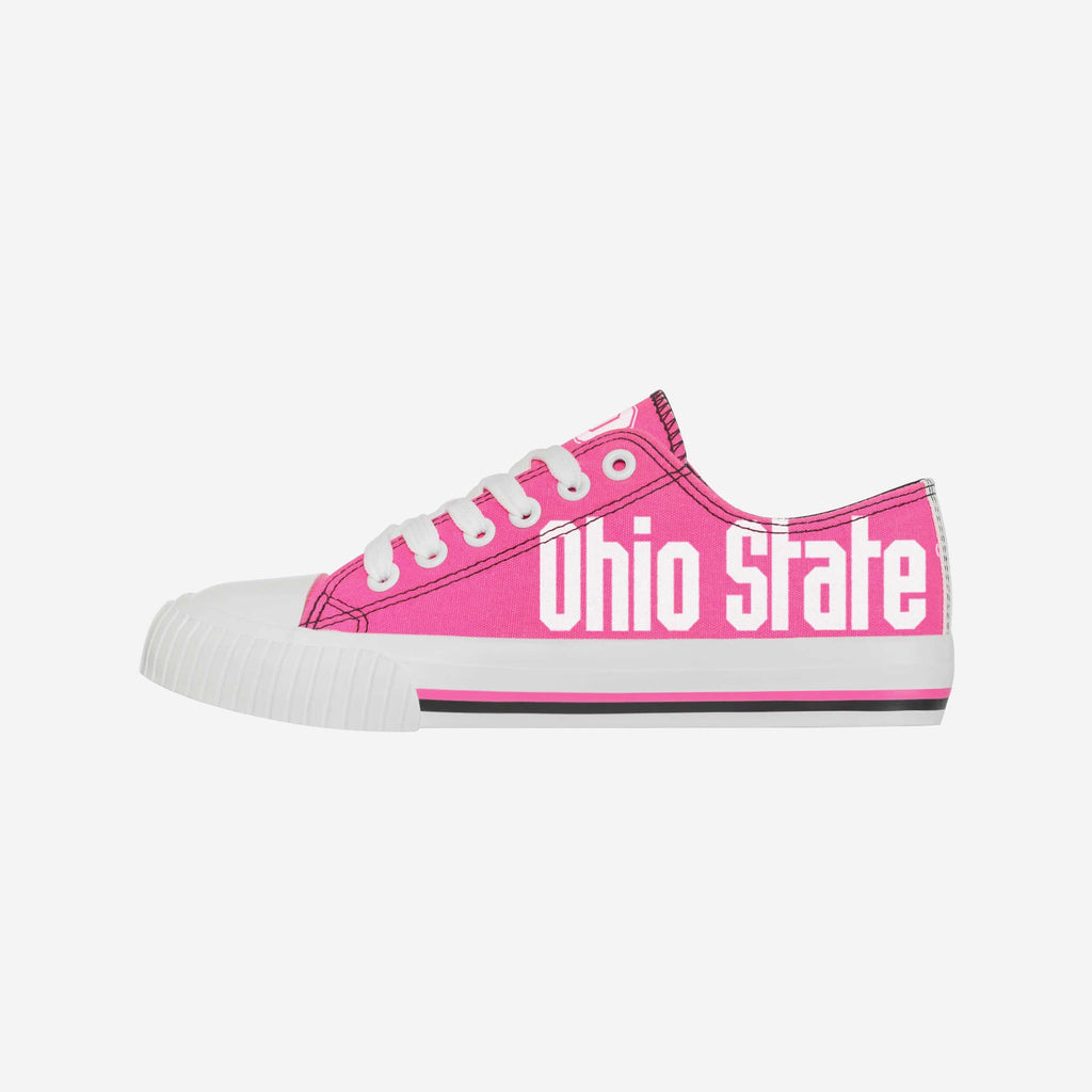 Ohio State Buckeyes Womens Highlights Low Top Canvas Shoe FOCO 6 - FOCO.com