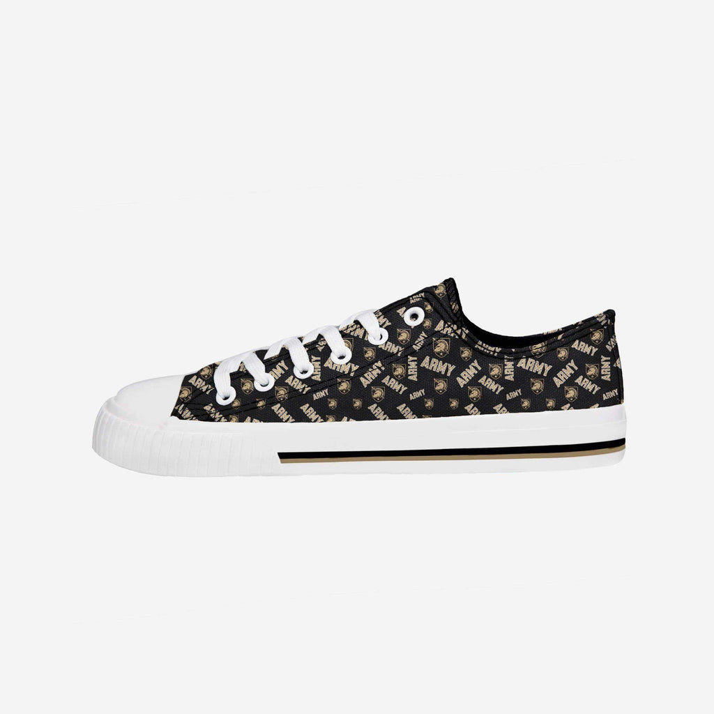 Army Black Knights Womens Low Top Repeat Print Canvas Shoe FOCO - FOCO.com
