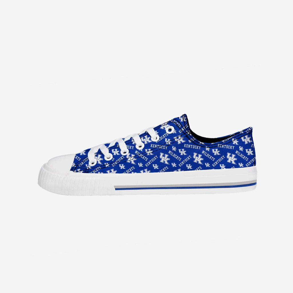 Kentucky Wildcats Womens Low Top Repeat Print Canvas Shoe FOCO - FOCO.com