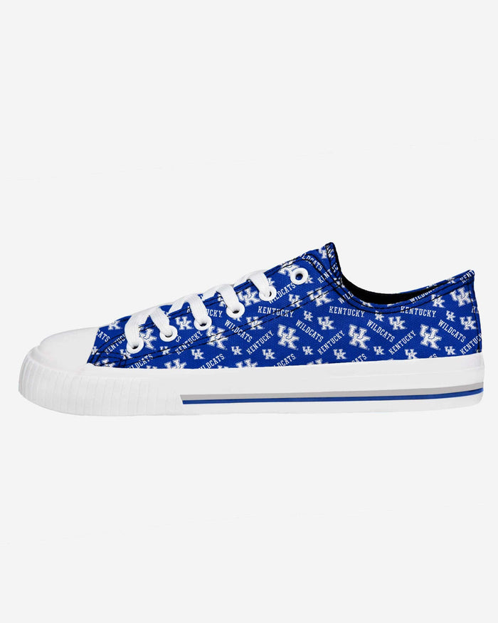 1fa595b6 Kentucky Wildcats Womens Low Top Repeat Print Canvas Shoe - 6