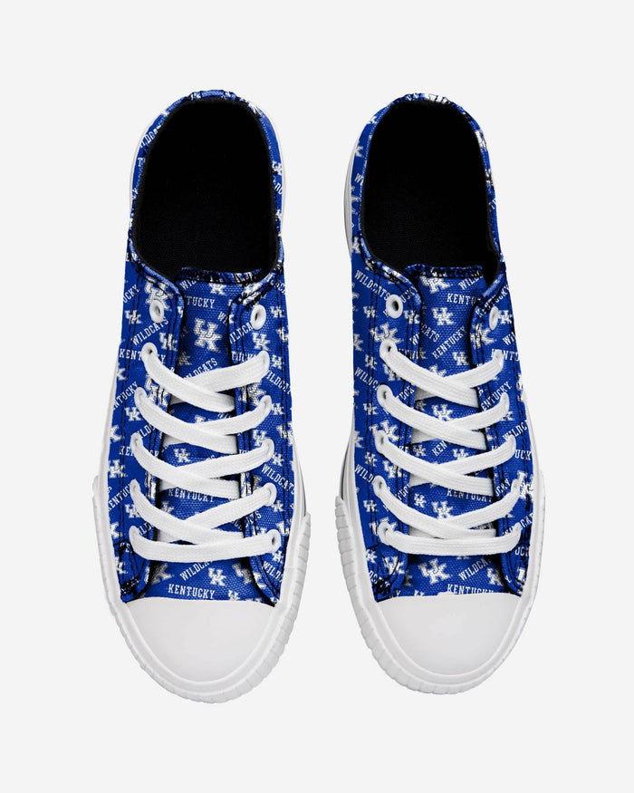 fbe0b39a Kentucky Wildcats Womens Low Top Repeat Print Canvas Shoe - 6