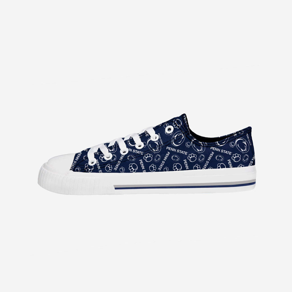 Penn State Nittany Lions Womens Low Top Repeat Print Canvas Shoe FOCO - FOCO.com