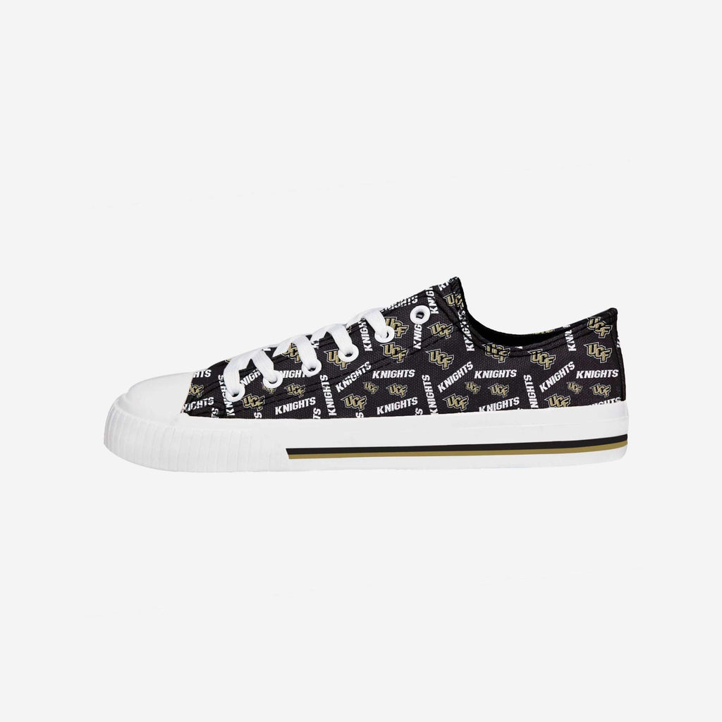 UCF Knights Womens Low Top Repeat Print Canvas Shoe FOCO - FOCO.com