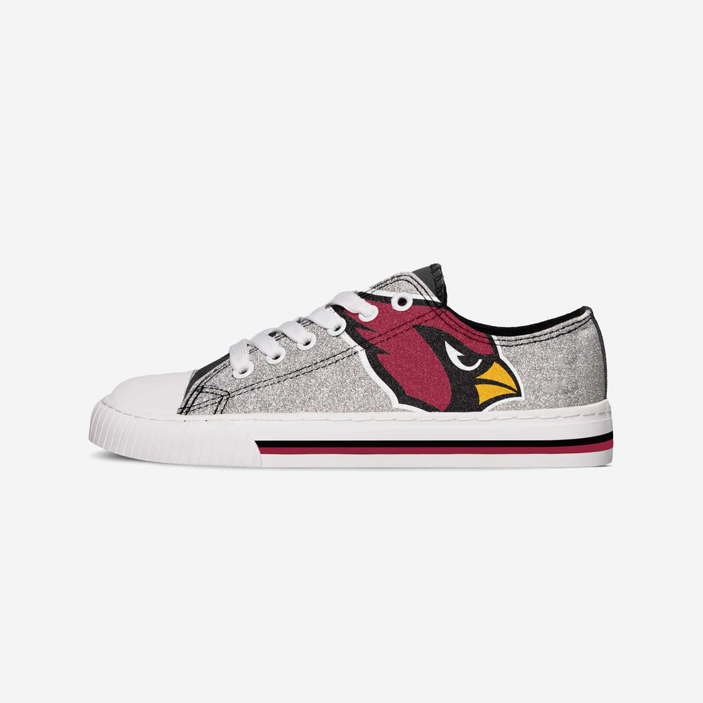 Arizona Cardinals Womens Glitter Low Top Canvas Shoe