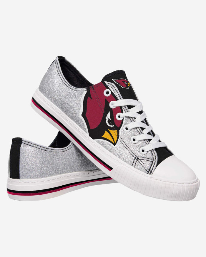 Arizona Cardinals Womens Glitter Low Top Canvas Shoe FOCO - FOCO.com