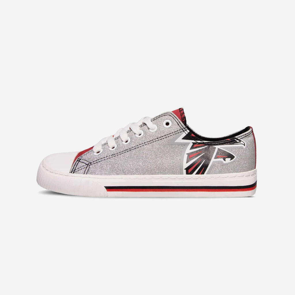 Atlanta Falcons Womens Glitter Low Top Canvas Shoe FOCO - FOCO.com