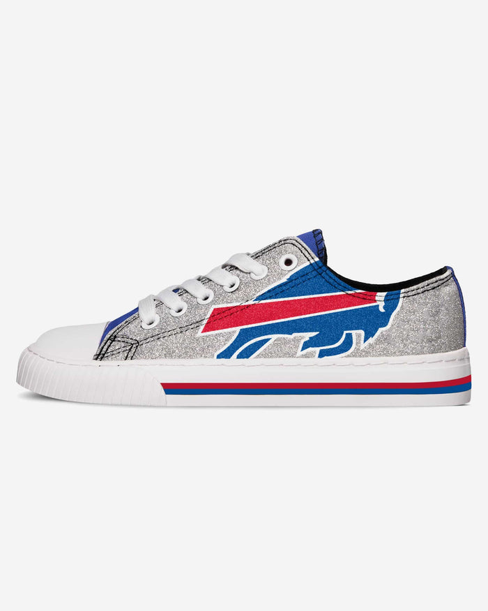 Buffalo Bills Womens Glitter Low Top Canvas Shoe FOCO - FOCO.com