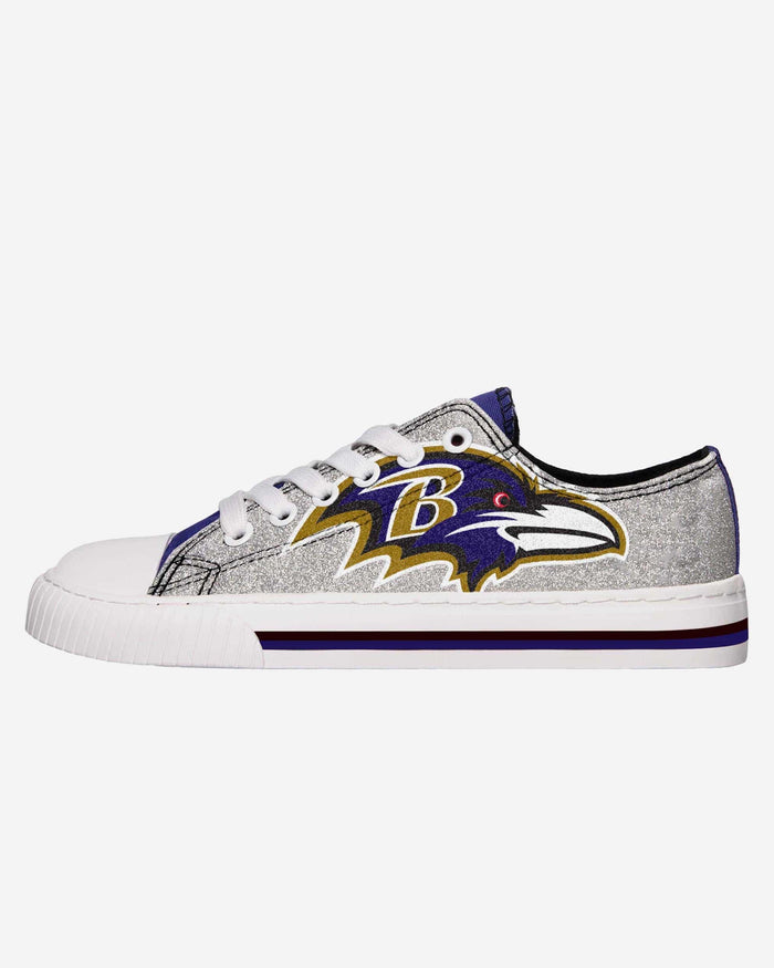 Baltimore Ravens Womens Glitter Low Top Canvas Shoe FOCO 6 - FOCO.com