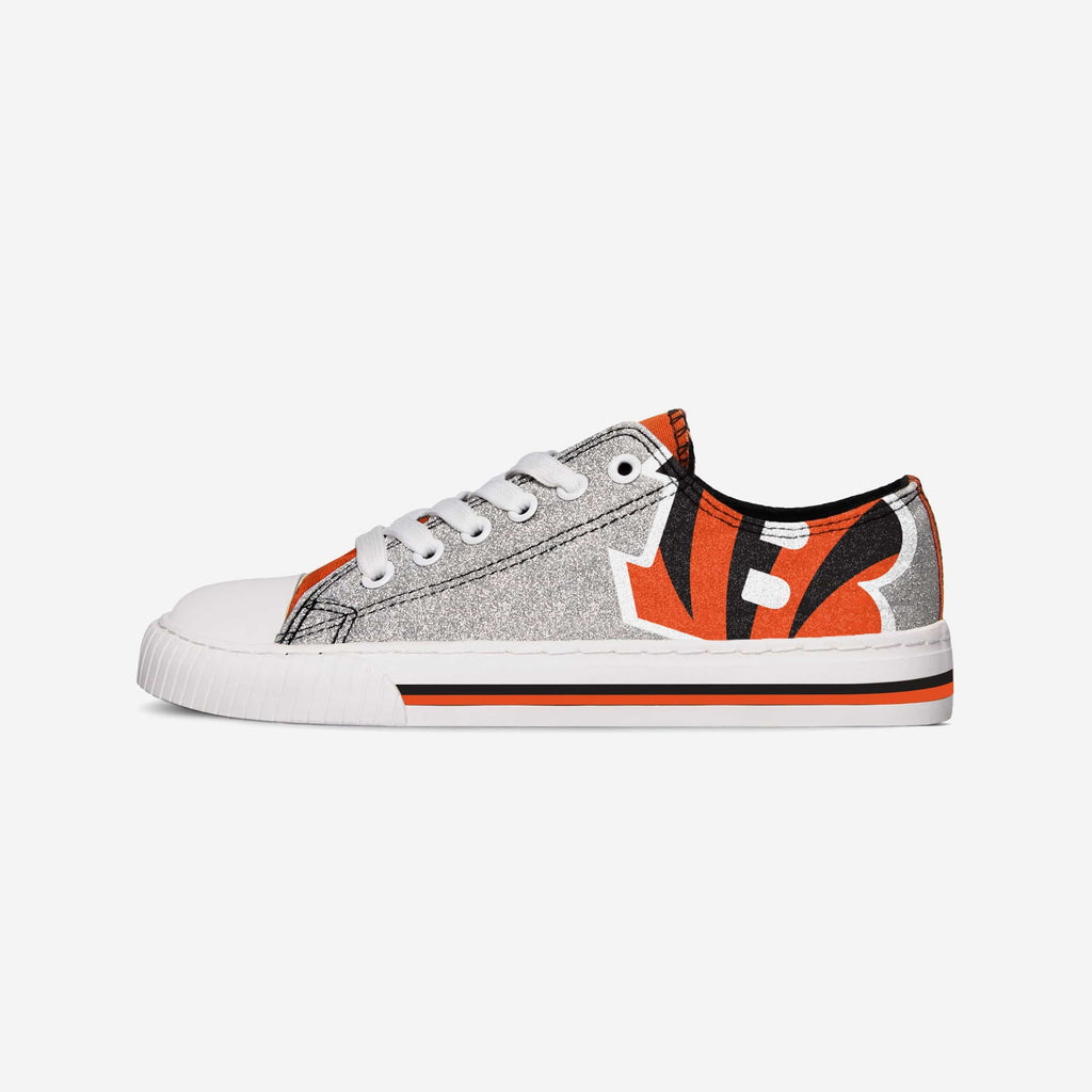 Cincinnati Bengals Womens Glitter Low Top Canvas Shoe