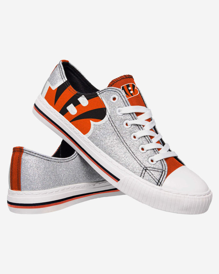 Cincinnati Bengals Womens Glitter Low Top Canvas Shoe FOCO - FOCO.com