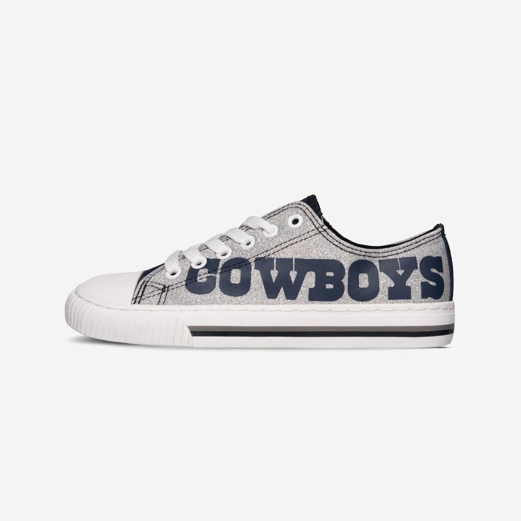 Dallas Cowboys Glitter Low Top Canvas Shoe