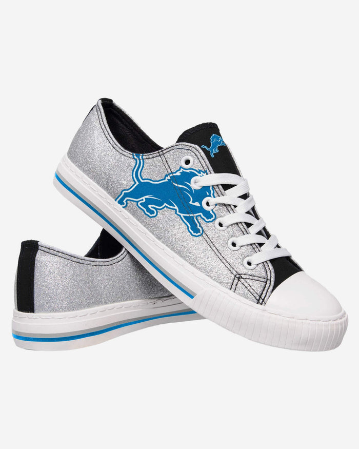 Detroit Lions Womens Glitter Low Top Canvas Shoe FOCO - FOCO.com