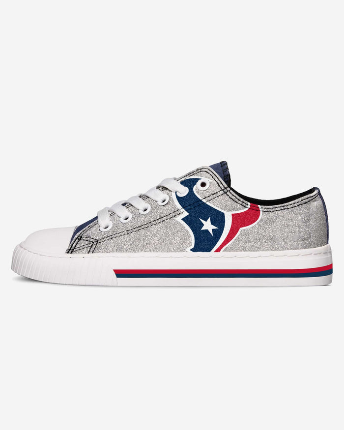 Houston Texans Womens Glitter Low Top Canvas Shoe FOCO - FOCO.com