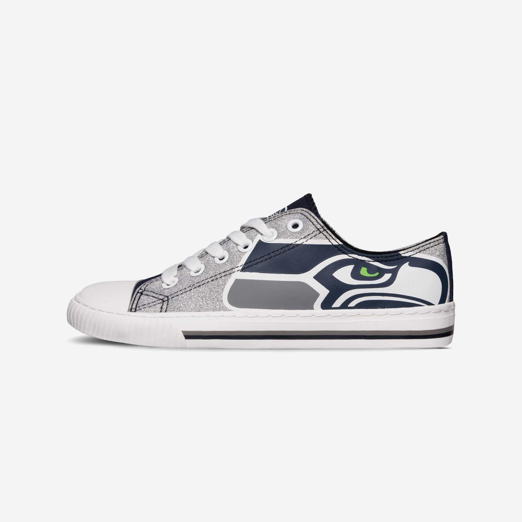 Seattle Seahawks Glitter Low Top Canvas Shoe