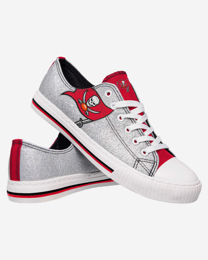 Tampa Bay Buccaneers Womens Glitter Low Top Canvas Shoe FOCO - FOCO.com