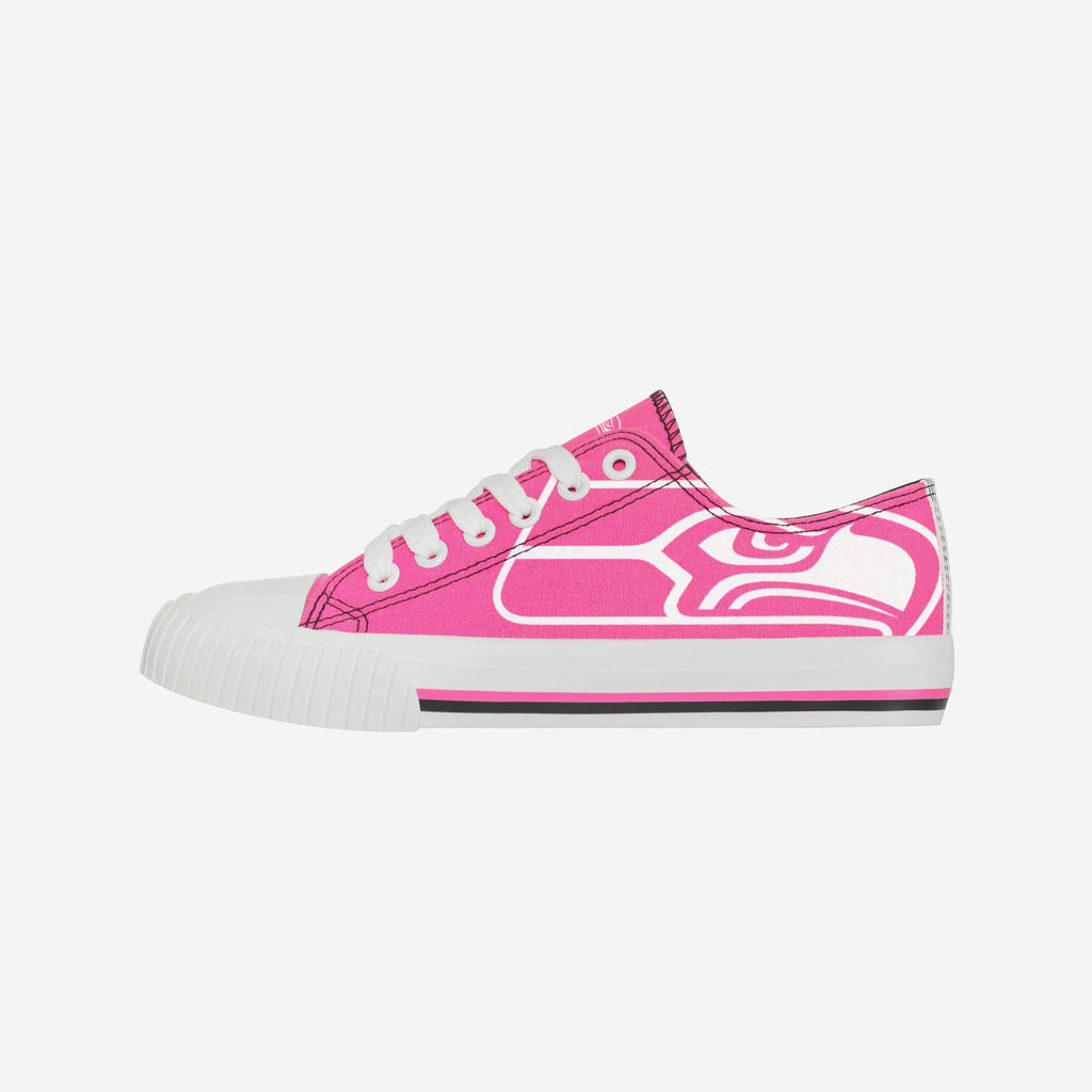 Seattle Seahawks Womens Highlights Low Top Canvas Shoe FOCO 6 - FOCO.com
