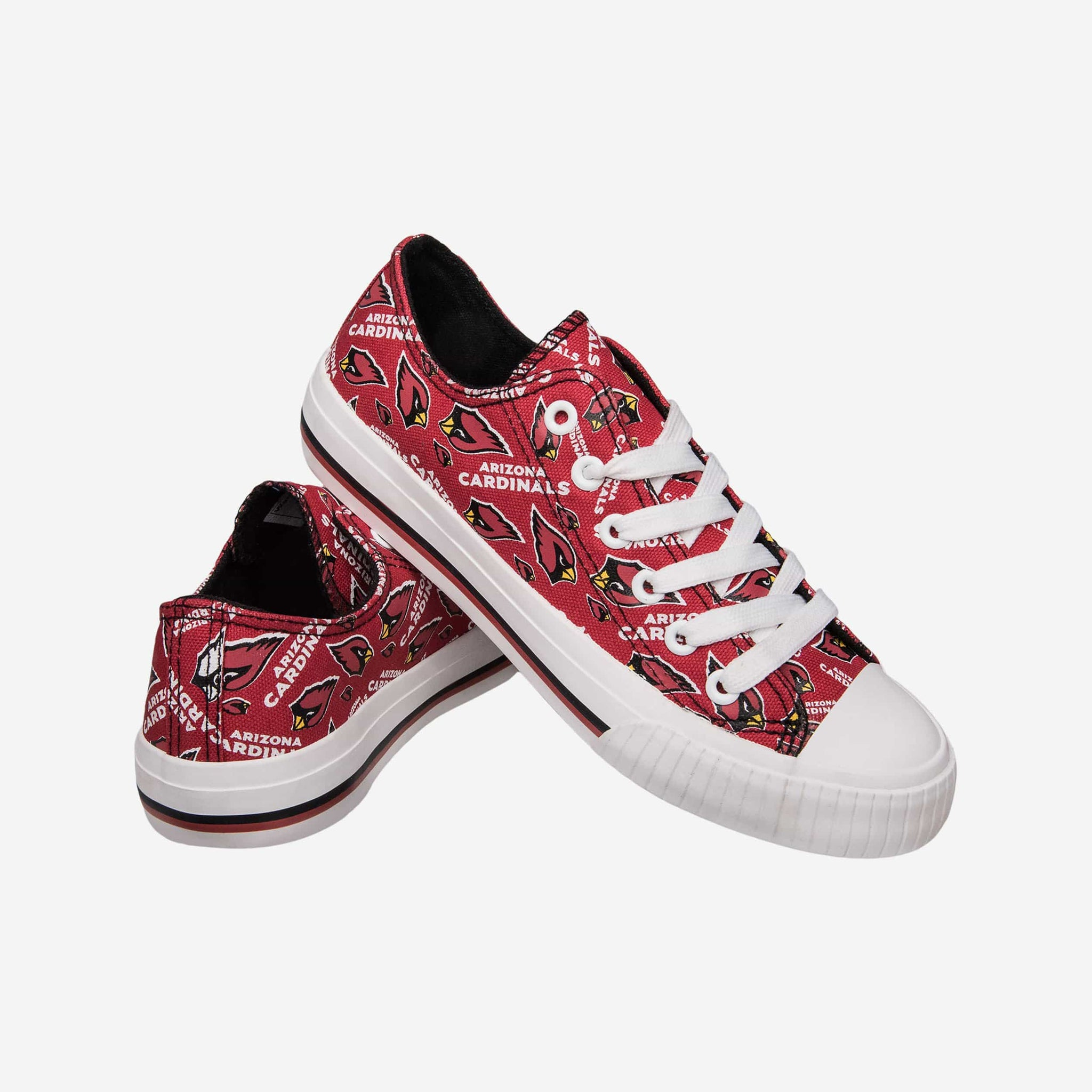 Arizona Cardinals Womens Low Top Repeat Print Canvas Shoe