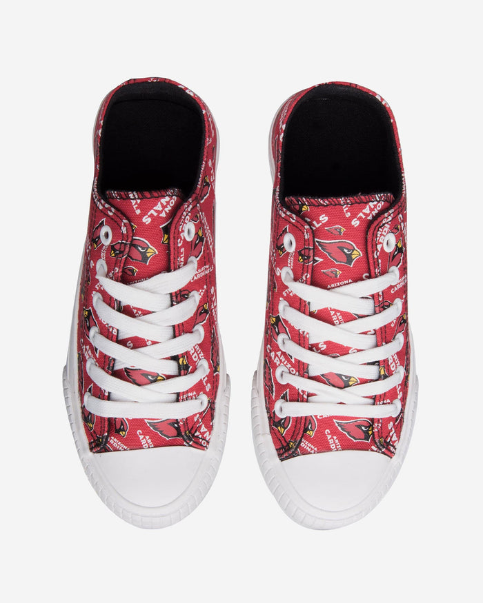 Arizona Cardinals Womens Low Top Repeat Print Canvas Shoe FOCO - FOCO.com