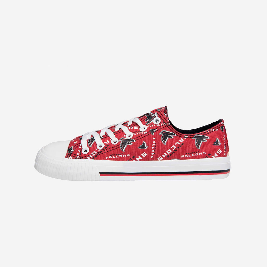 Atlanta Falcons Womens Low Top Repeat Print Canvas Shoe