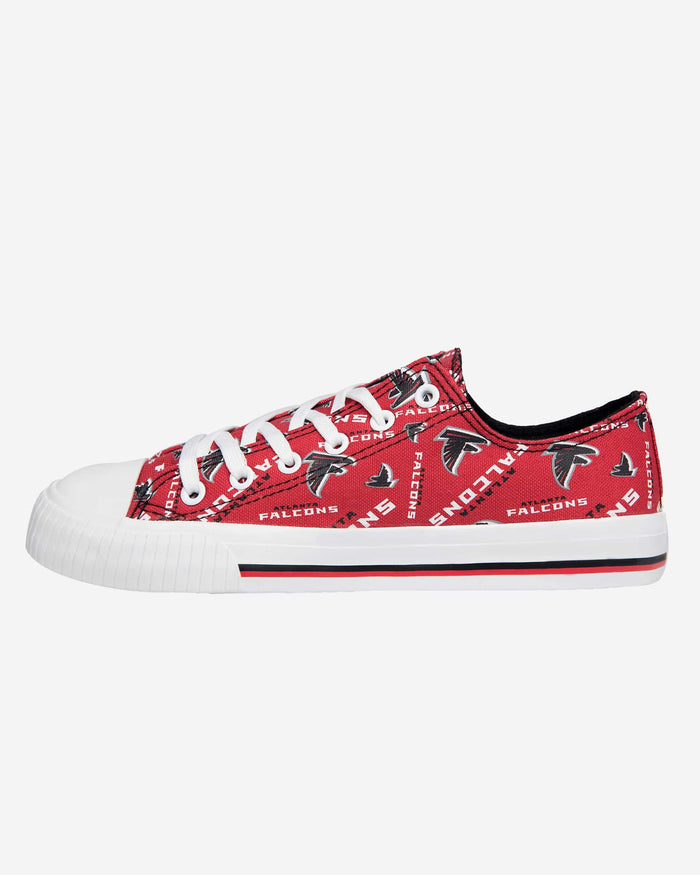 Atlanta Falcons Womens Low Top Repeat Print Canvas Shoe FOCO - FOCO.com