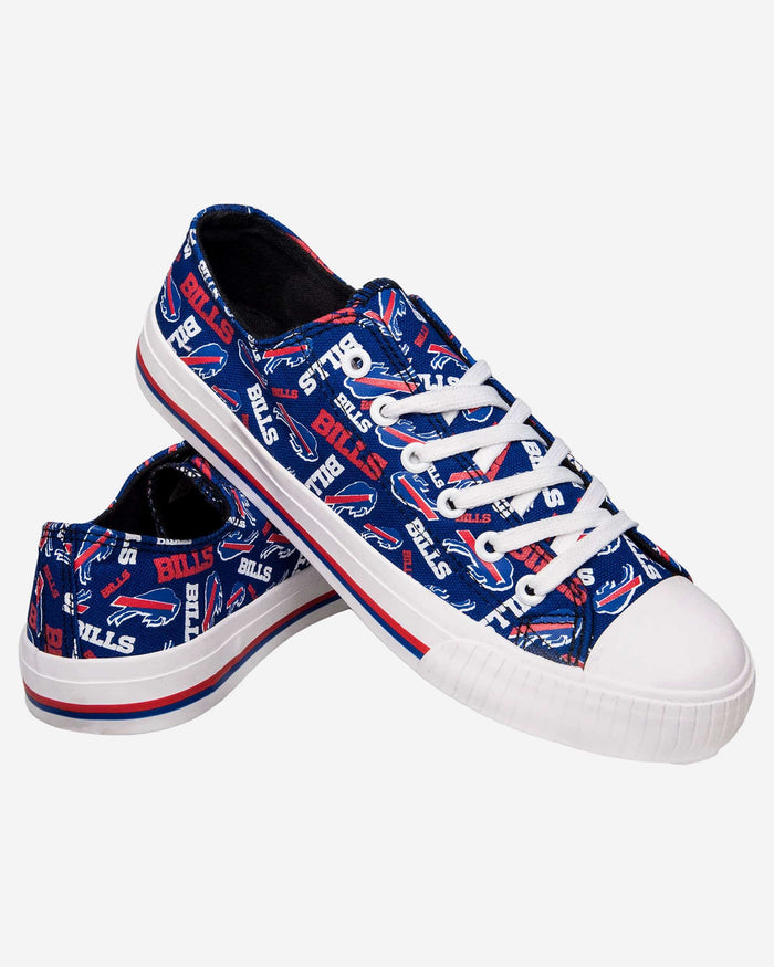Buffalo Bills Womens Low Top Repeat Print Canvas Shoe FOCO - FOCO.com