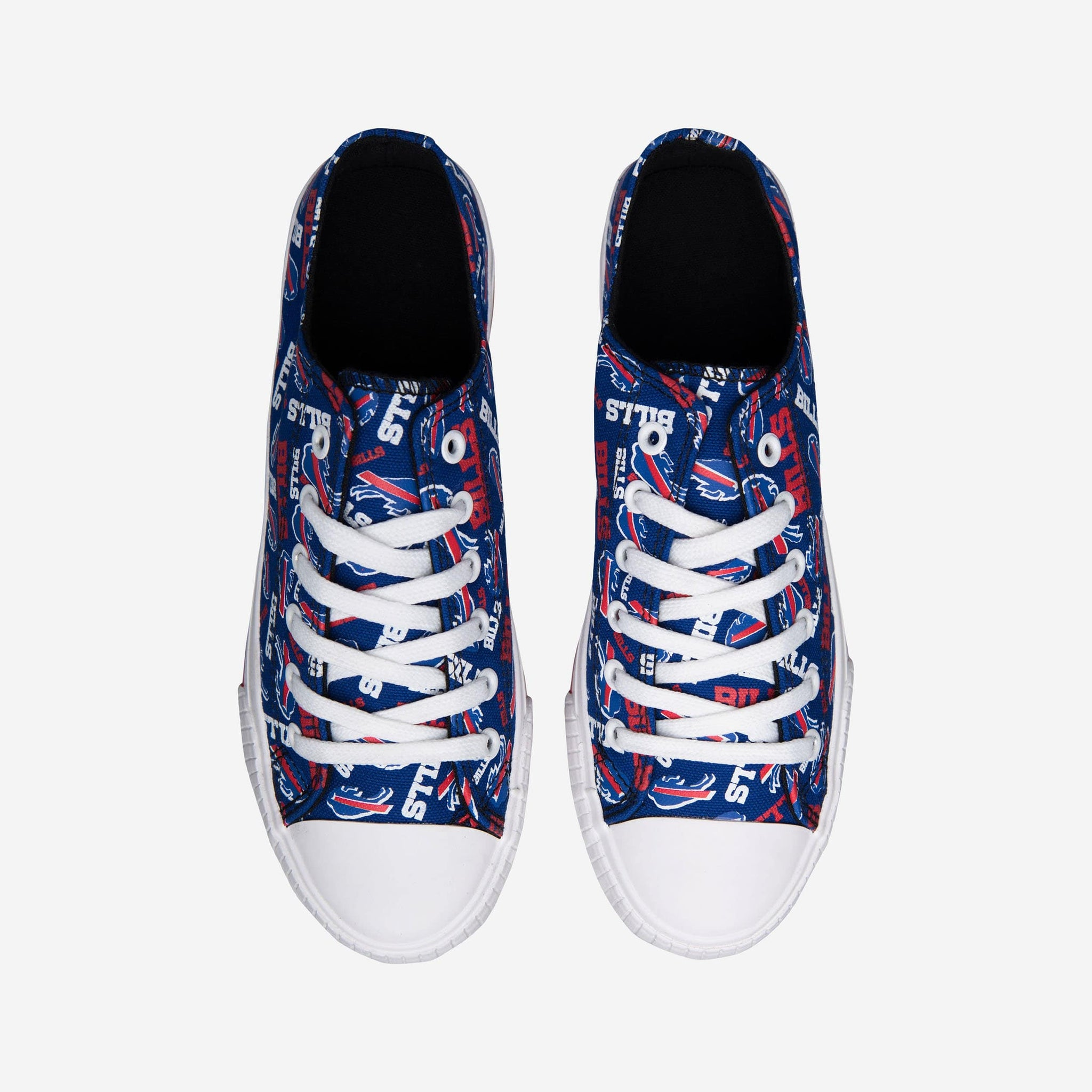 Buffalo Bills Womens Low Top Repeat Print Canvas Shoe