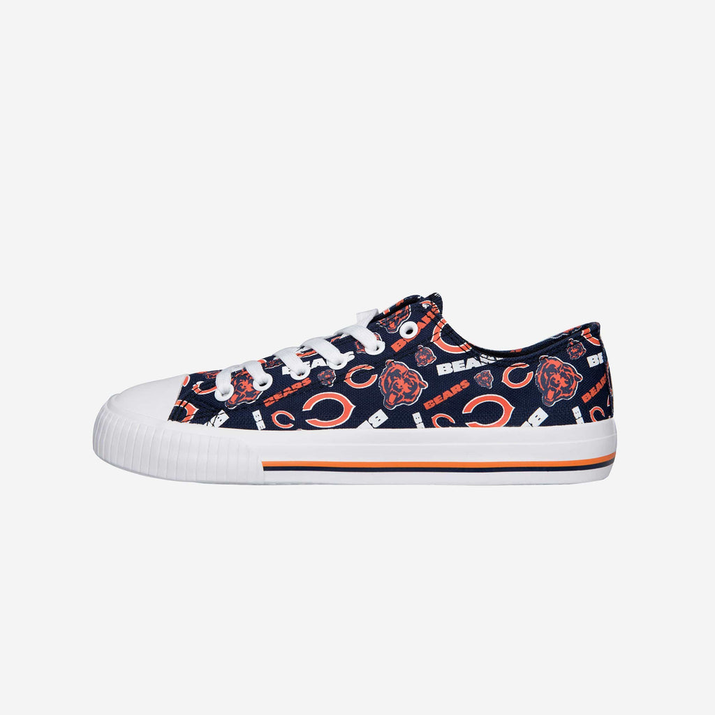 Chicago Bears Womens Low Top Repeat Print Canvas Shoe FOCO - FOCO.com