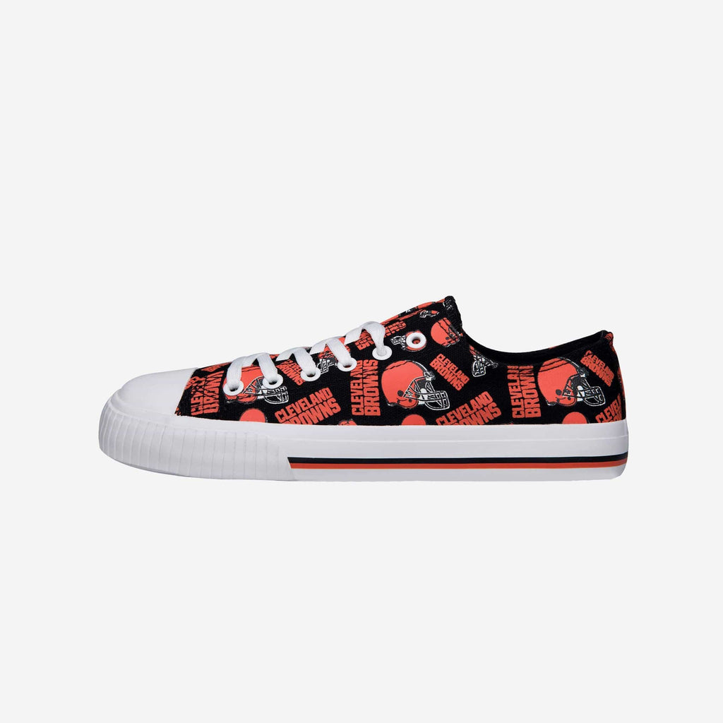 Cleveland Browns Womens Low Top Repeat Print Canvas Shoe FOCO - FOCO.com