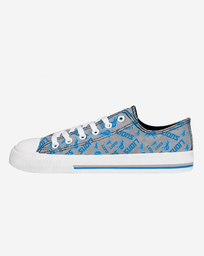 Detroit Lions Womens Low Top Repeat Print Canvas Shoe FOCO - FOCO.com