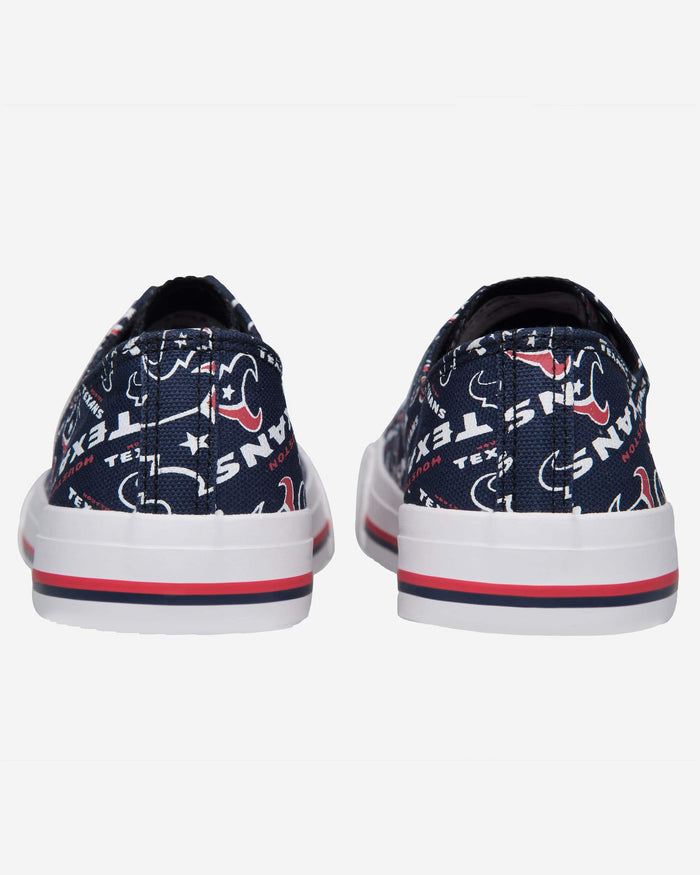 Houston Texans Womens Low Top Repeat Print Canvas Shoe FOCO - FOCO.com