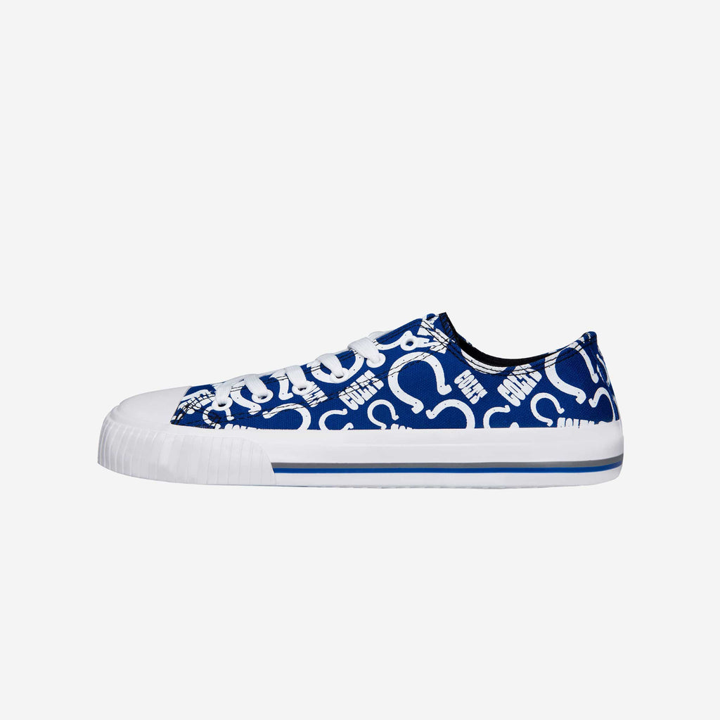 Indianapolis Colts Womens Low Top Repeat Print Canvas Shoe