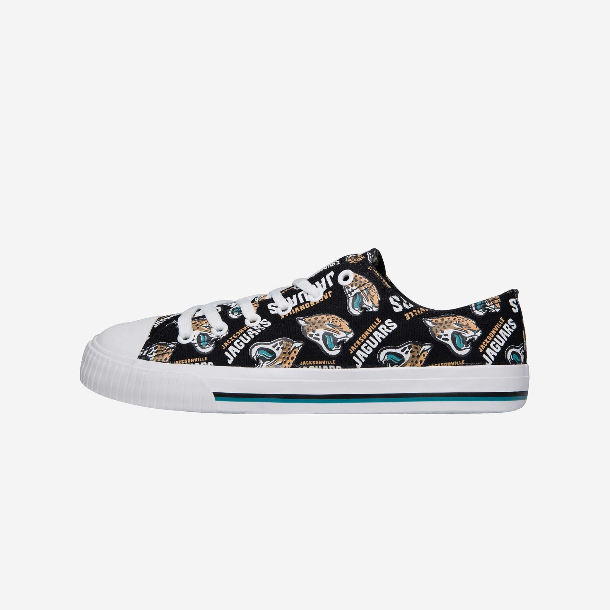 a3822993376144 Jacksonville Jaguars Womens Low Top Repeat Print Canvas Shoe FOCO - FOCO.com