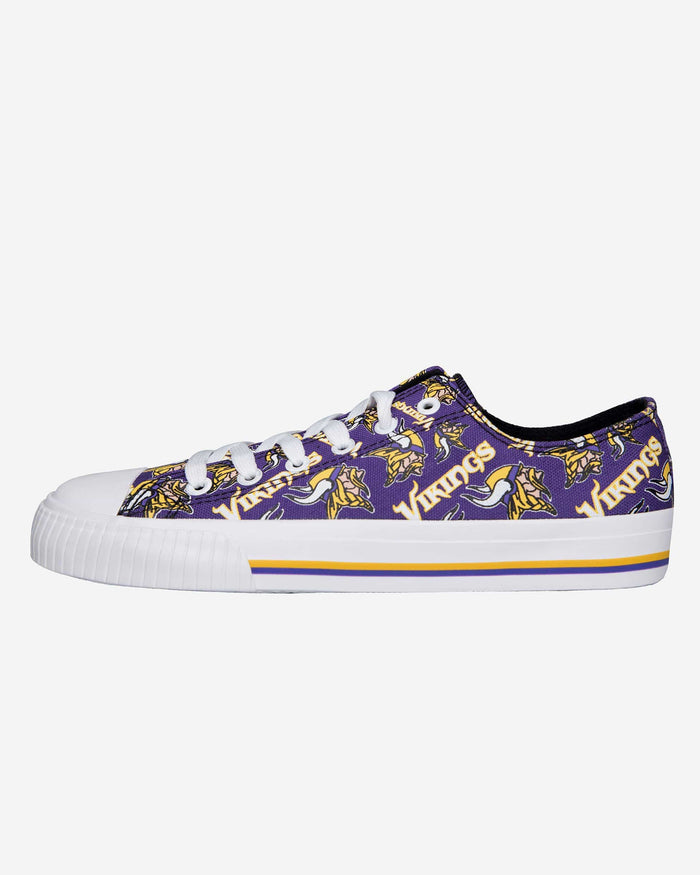 Minnesota Vikings Womens Low Top Repeat Print Canvas Shoe FOCO - FOCO.com