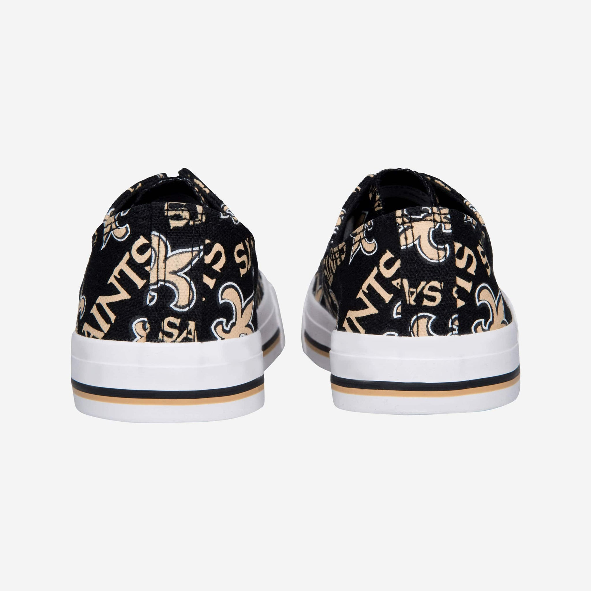 cd9e0f865a0d89 New Orleans Saints Womens Low Top Repeat Print Canvas Shoe FOCO - FOCO.com