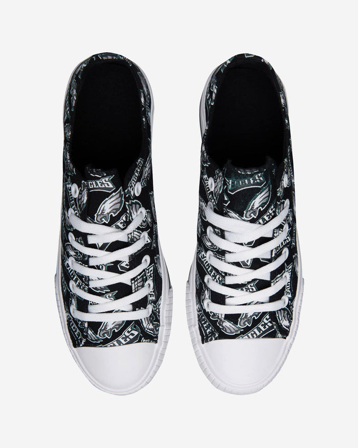 Philadelphia Eagles Womens Low Top Repeat Print Canvas Shoe FOCO - FOCO.com