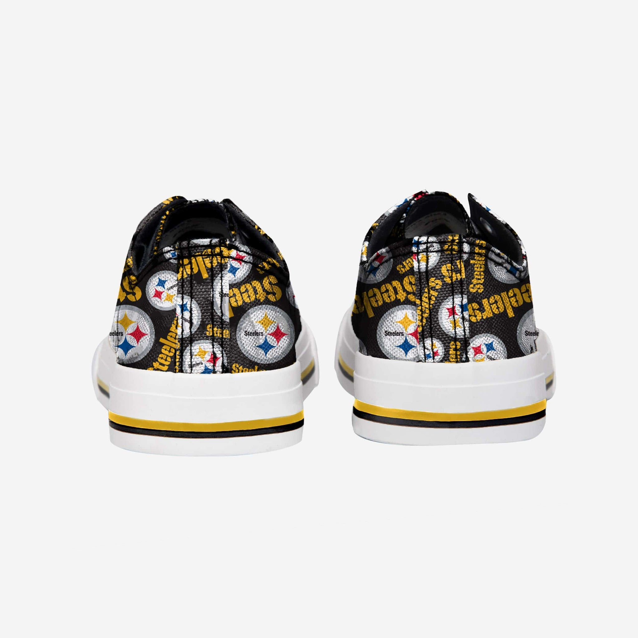 5d8a4ce0 Pittsburgh Steelers Womens Low Top Repeat Print Canvas Shoe FOCO - FOCO.com