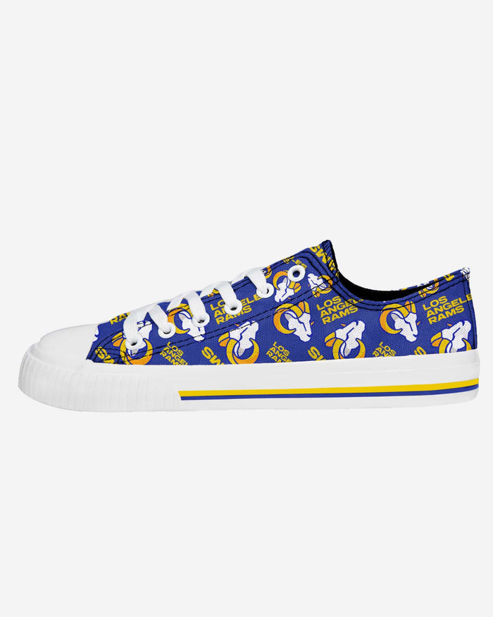Los Angeles Rams Womens Low Top Repeat Print Canvas Shoe FOCO - FOCO.com