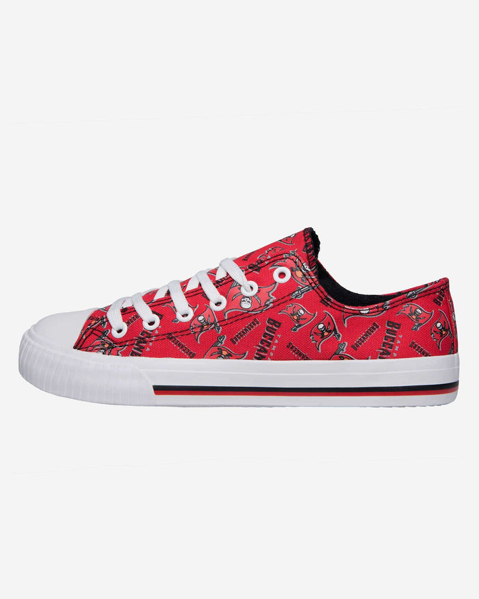 Tampa Bay Buccaneers Womens Low Top Repeat Print Canvas Shoe FOCO - FOCO.com