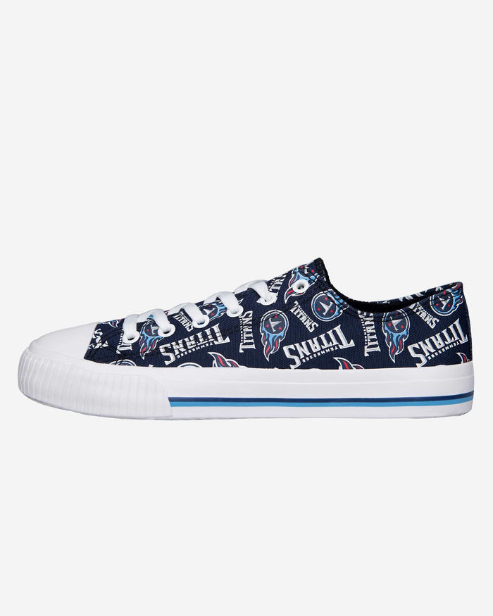 Tennessee Titans Womens Low Top Repeat Print Canvas Shoe FOCO - FOCO.com
