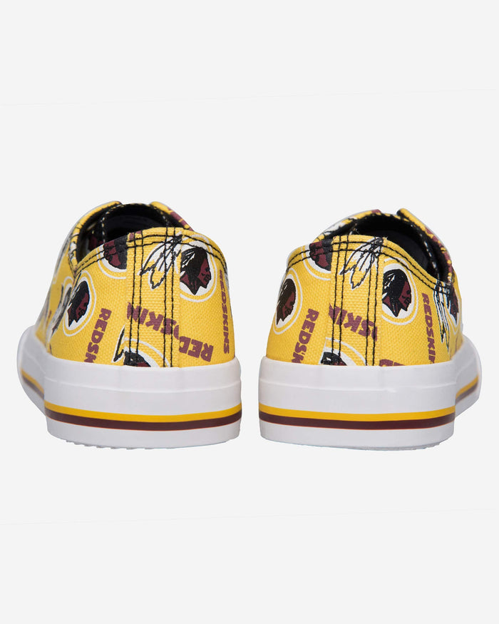 Washington Redskins Womens Low Top Repeat Print Canvas Shoe FOCO - FOCO.com