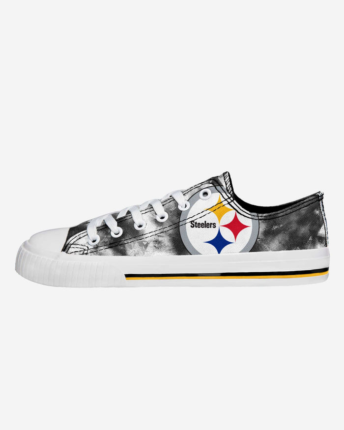 Pittsburgh Steelers Womens Low Top Tie Dye Canvas Shoe FOCO 6 - FOCO.com