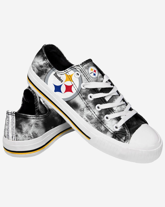 Pittsburgh Steelers Womens Low Top Tie Dye Canvas Shoe FOCO - FOCO.com