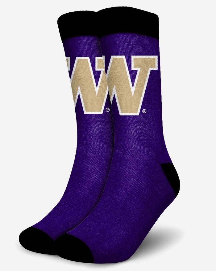 Washington Huskies Primetime Socks FOCO S/M - FOCO.com